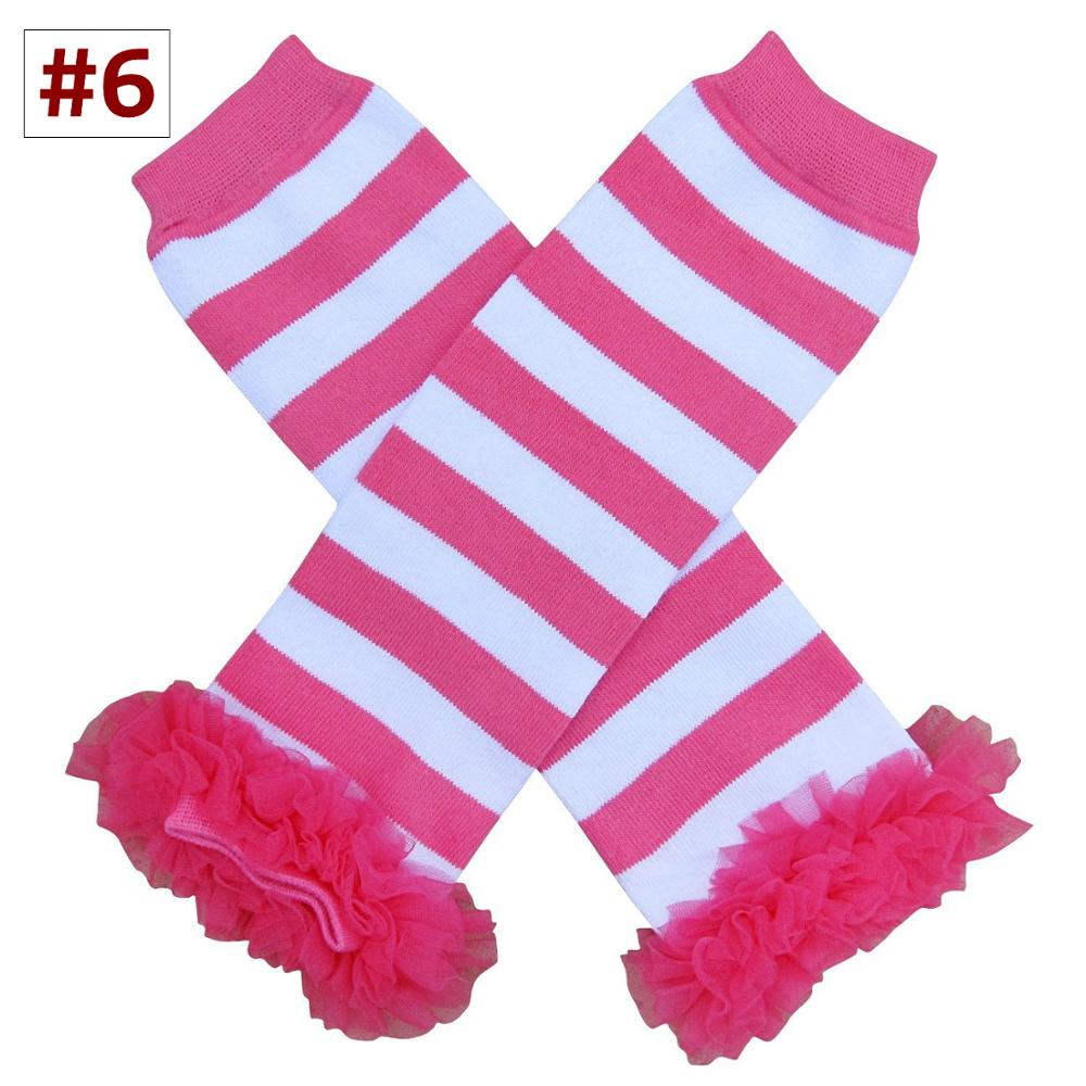Striped Lace Knee Pads for Baby Holiday Toddler Chiffon Ruffle Leg Warmers Unisex Knee Protector