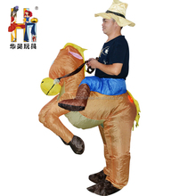 Custom design ride on animal mascot costume inflatable horse costume