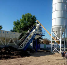 Truck Mounted Concrete Batching Plant 25cbm production