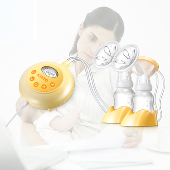 Pocket electric breast pump for baby breastfeeding