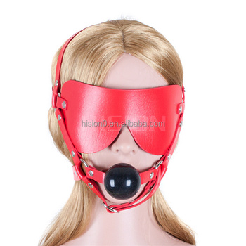Bondage gear open mouth mask gag and the
