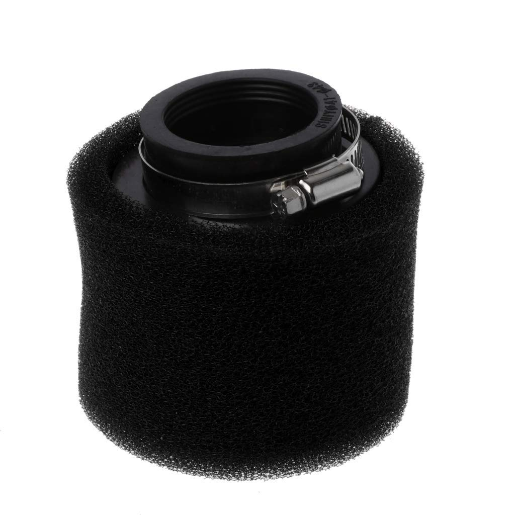 RingBuu Motorcycle Double Sponge Air Filter Cleaner Straight Neck 35/38/40/42/45/48mm