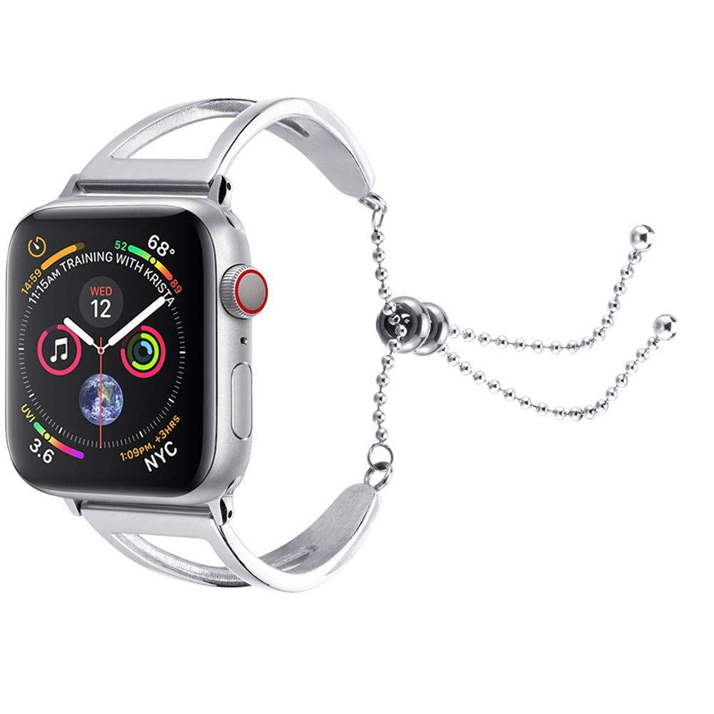 Accessory for Apple Watch Series!!!Kacowpper New Fashion Stainless Steel Bracelet Replacement Band Straps for Apple Watch Series 4 44mm/40mm!!Halloween Hot Sale!!!