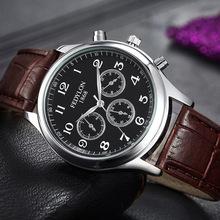 Fashion Casual Mens Watches Luxury Brand Genuine Leather Strap Business Watch Man Waterproof Sport Military Quartz Orologio Uomo