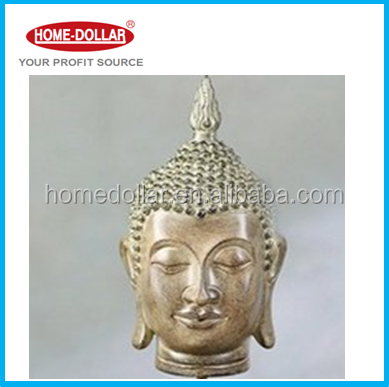 Southeast Asia Antique Style Resin Buddha Head Statue