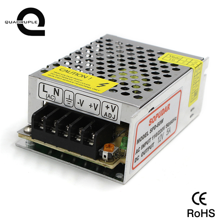 60w 5a transformator 12v Switching Power <strong>Supply</strong> for led strip