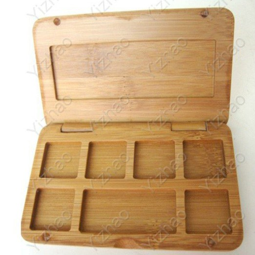 Wholesale makeup eyeshadow bamboo empty palette with your private label