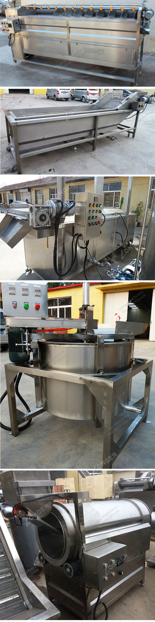 Professional Industrial Automatic Potato Chips Plant Cost Potato Chips Production Line