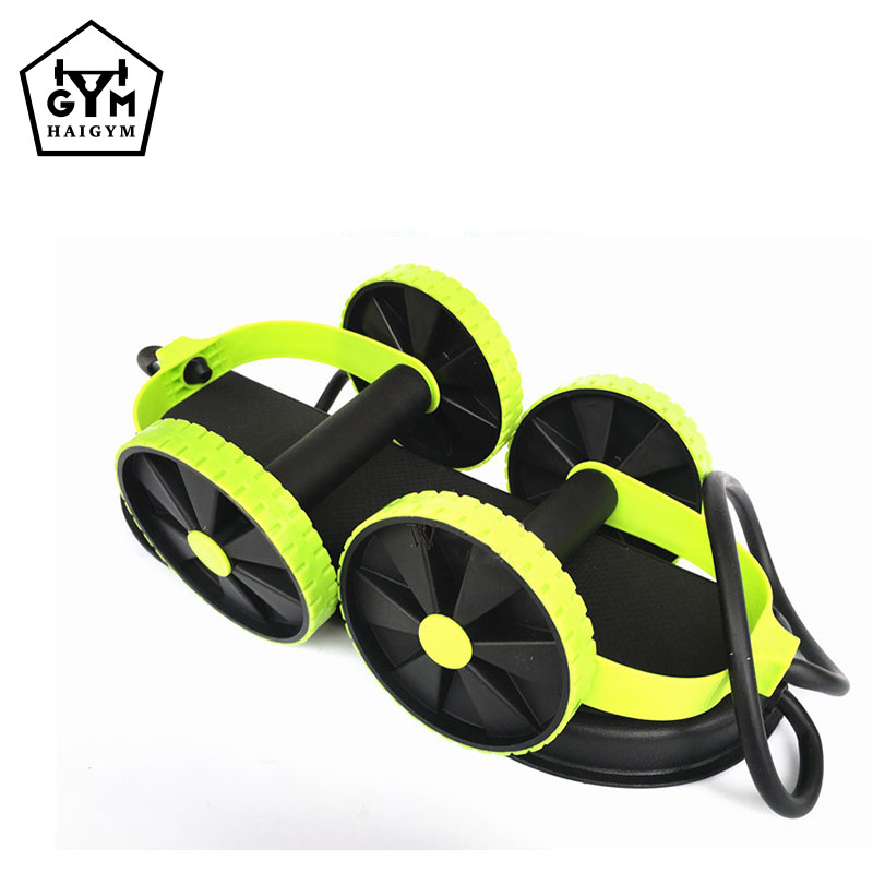 New Core Double Wheels Pull Rope Abdominal Waist Slimming Pull Rope On The Go Abdominal & Full Body Workout Trainer