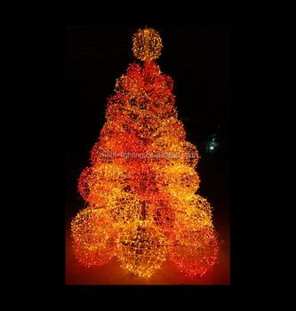 Albero Di Natale Grande.Piu Nuovo Stile Multi Colore Grande Festa Festival Led Illuminato Palla Decorazione Albero Outdoor Natale Appeso Multi Palla Di Luce Albero Buy