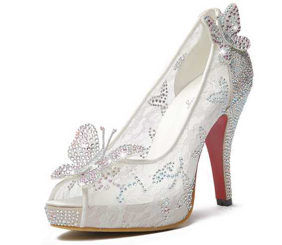 Wedding-Shoes-butterfly-shoes-11CM-High-Heel-Elegant-Women