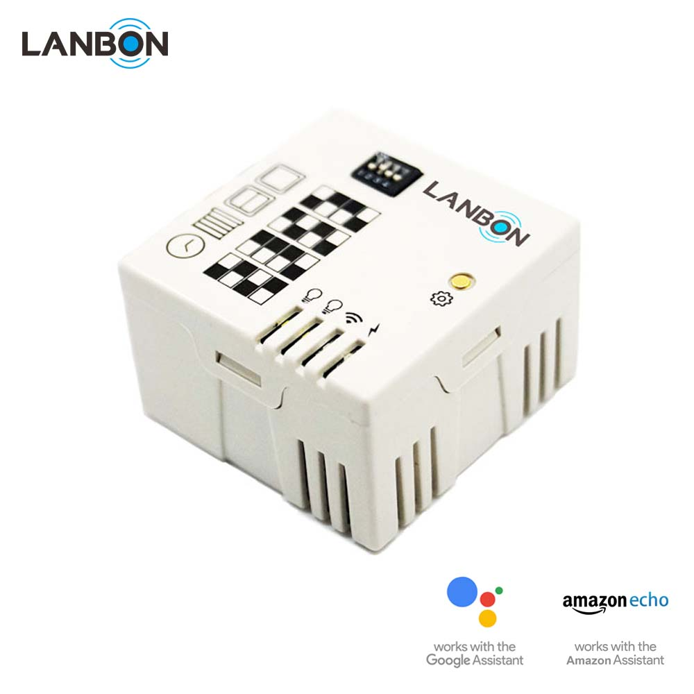 Lanbon Wifi module Wifi smart home home automation Lighting control Normal switch change to wifi switch work with Google home