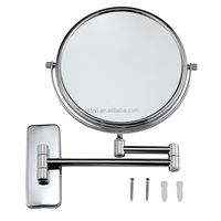 Main product special design stainless steel shatter proof cosmetic mirror with many colors