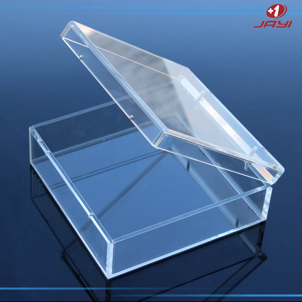 Custom made small or large clear acrylic storage display box with hinged lids & Custom Made Small Or Large Clear Acrylic Storage Display Box With ... Aboutintivar.Com