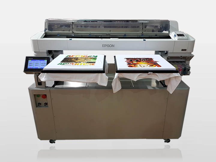 Automatic Industrial media thickness adjustment dtg inkjet printing machine