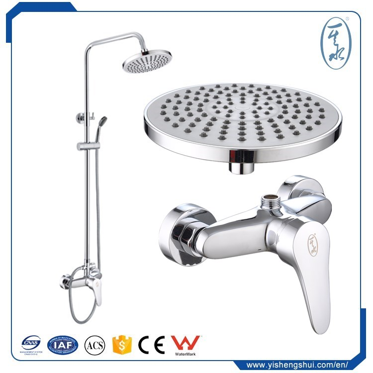 40% Water Saving New Bathroom Solid Brass Spray Rain Rainfall Top Hand held Shower Head Chrome