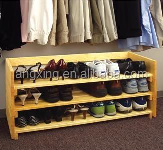 Custom bankje houten schoenenkast deur schoenenrek for Como hacer una zapatera