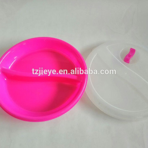 Pass round disposable compartment plastic plate with cover and vent