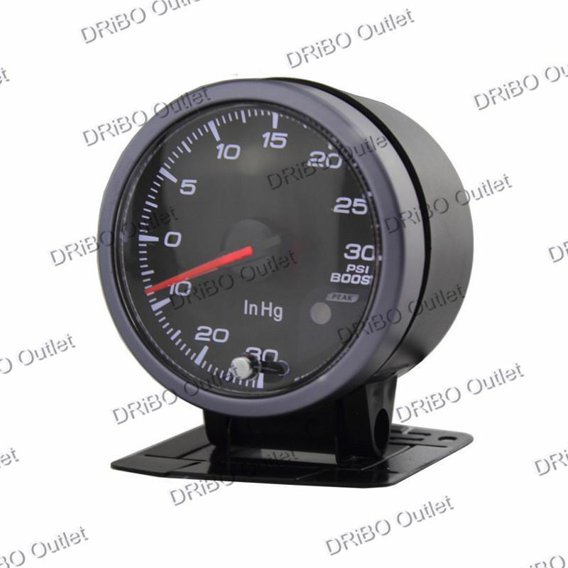 Boost guage 60MM Black FaceNo Logo Boost guage(-1~2 bar) W/peak function/Auto Gauge/Tachometer/Racing meter/Turbo car meter