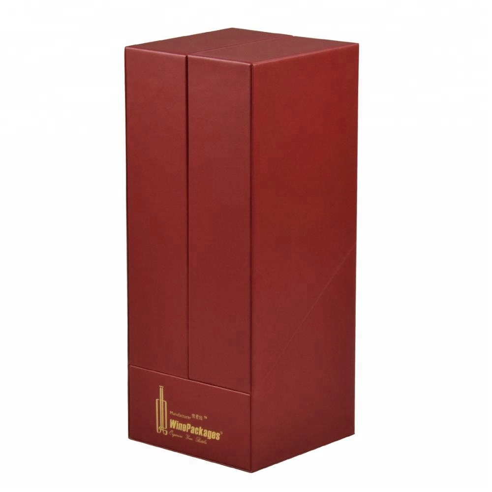 Fashion classic leather wine single bottle display gift box