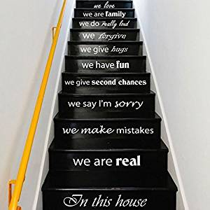 Buy Wall Decals Staircase Quotes In This House We Are Real ...