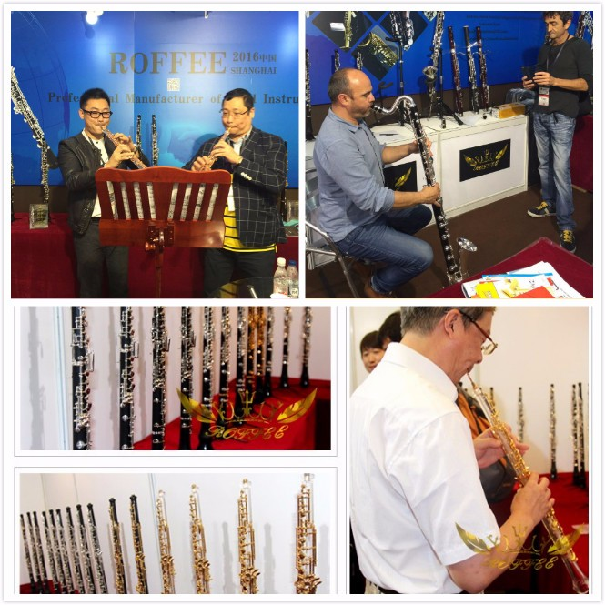 Roffee Music instrument gold plated key 17 keys Bb tone acrylic transparent body clarinet