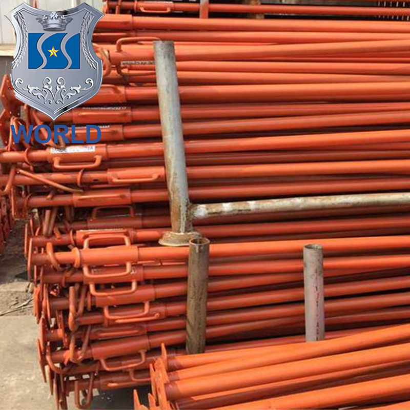 painted adjustable steel shoring prop/shoring prop tripod/spraying plastic cup nut steel for concrete formwork system