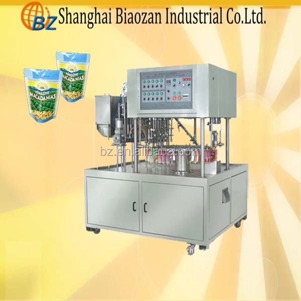 Soy Bean Milk sterilize stand-up pouch filling capping washing packaging machine