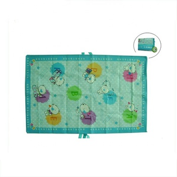 portable eco friendly pp beach bag with mat for picnic