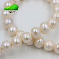natural round shape freshwater pearl necklace china supplier