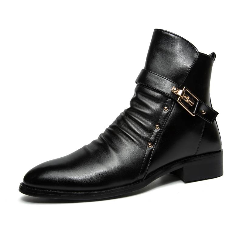 2017 High Fashion alibaba premium market fashion boot high neck shoes for men