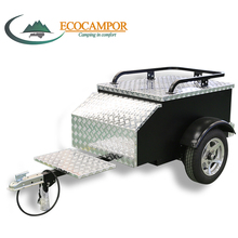 Small All Aluminum Materials Building Tow Used Enclosed Motorcycle Luggage Trailer for Sale