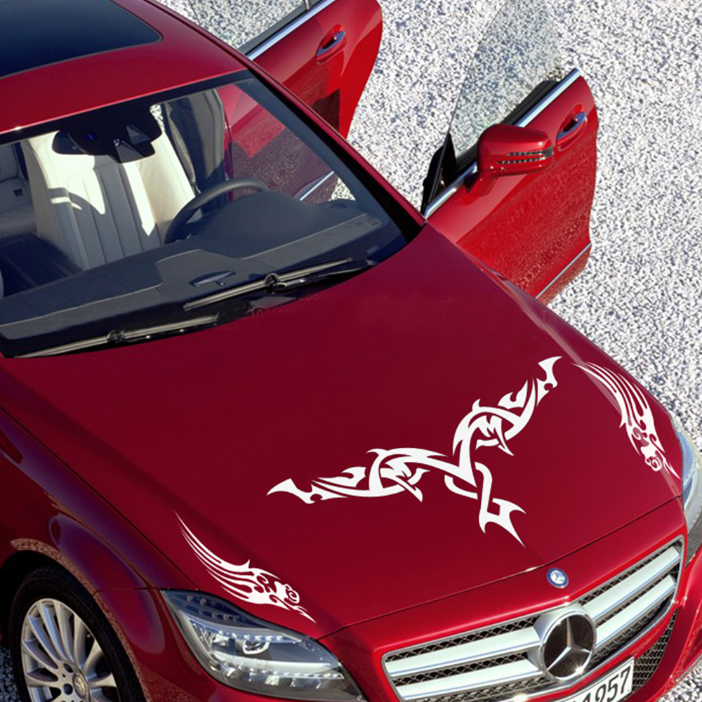 Hood 90cm 40cm Stickers Funny Wing Car Decal Decoration Sticker Hoods Trunk Rear Window Decal Universal Auto Accessories Styling