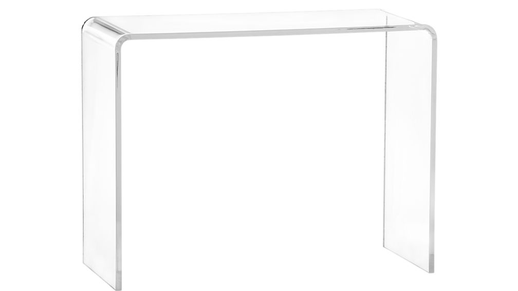 Wholesale Luxury Acrylic U Shaped Clear Home & Hotel Console Table