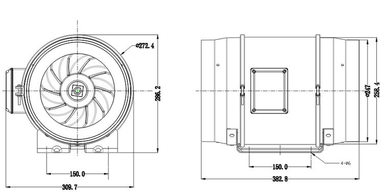 Hf-250p Mine Ventilation Cooling Fan