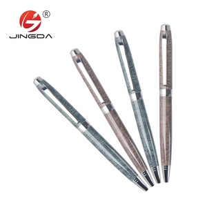 Ball Pen Raw Materials Metal Stone Ball Pen Slogan Gifts Hilton Ball Pen