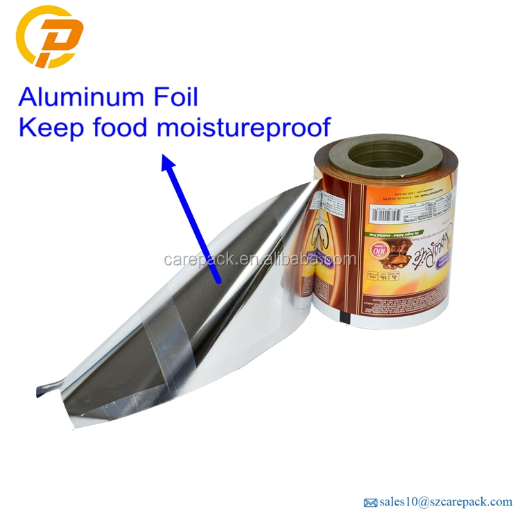Custom printed aluminum foil packaging film for food