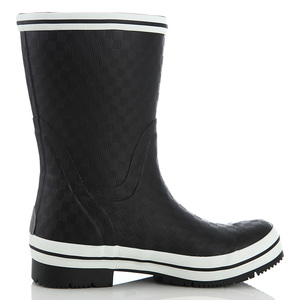 BaiLi Women's Basic Tall Buckle Rain boot Shoes, Waterproof Jelly Pull On Mid-calf Welly Boots