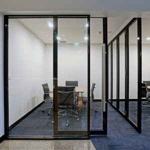 aluminium frame partition wall detail dwg for office using