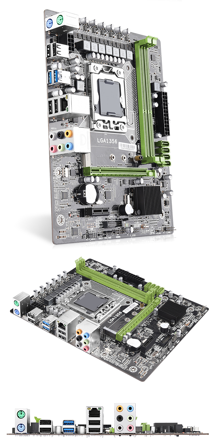 X79A superior gaming performance MATX Intel 6 series chipset LGA1356 socket motherboard with dual channels DDR3 up to 32GB