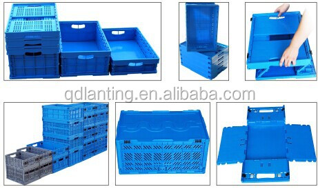 Folding Crate Heavy Duty Plastic Storage Bo Crates Clear
