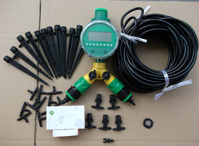 buy diy micro drip spray irrigation system auto garden watering system for. Black Bedroom Furniture Sets. Home Design Ideas
