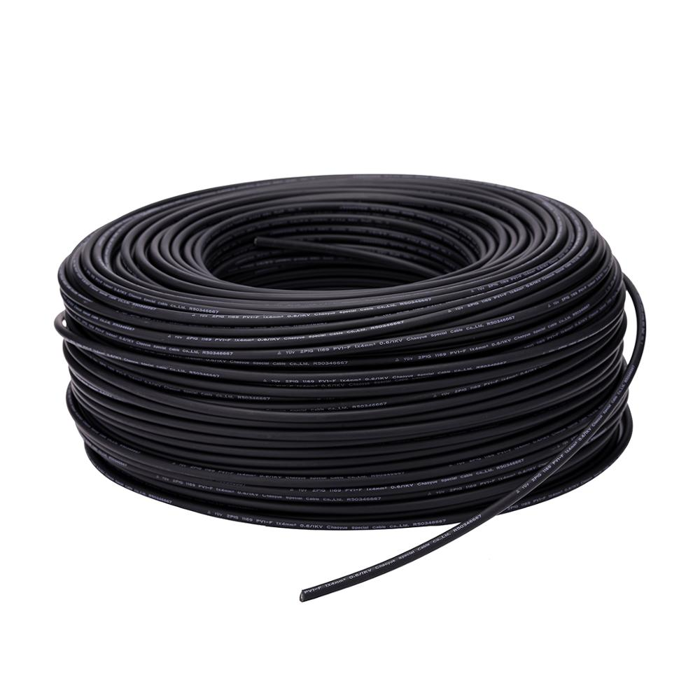 XLPE 48V DC 4mm PV Wires Solar Panel Cable