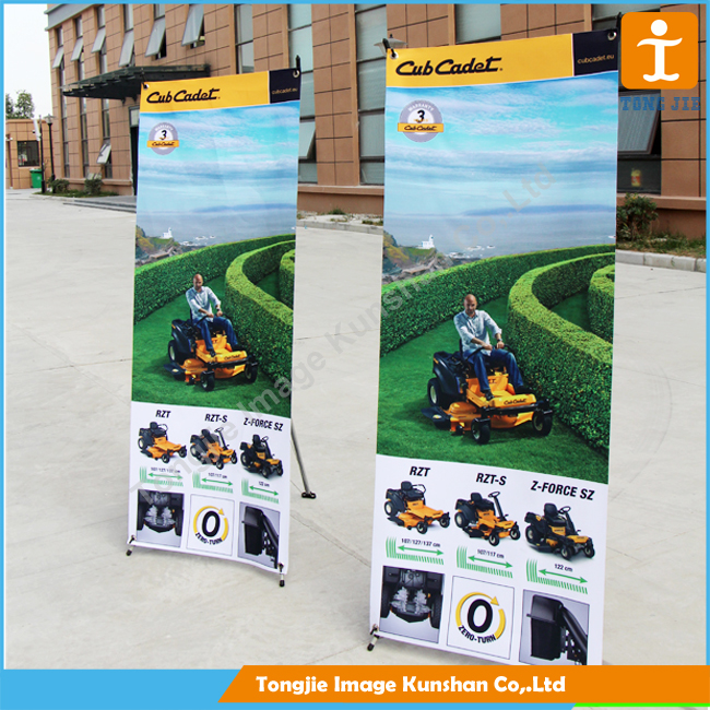 New arrivals top quality big size x frame flex banner