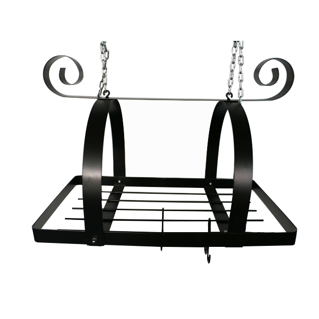 Hot sale factory direct price wall pot rack kitchen storage pans organizer mounted stainless steel shelf gold supplier