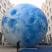 15m LED lighting Planet Balloon Advertising Inflatable Ball,Giant Decoration Inflatable Led Moon inflatable full moon