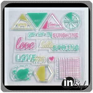 Personalized clear rubber ink stamps for card making