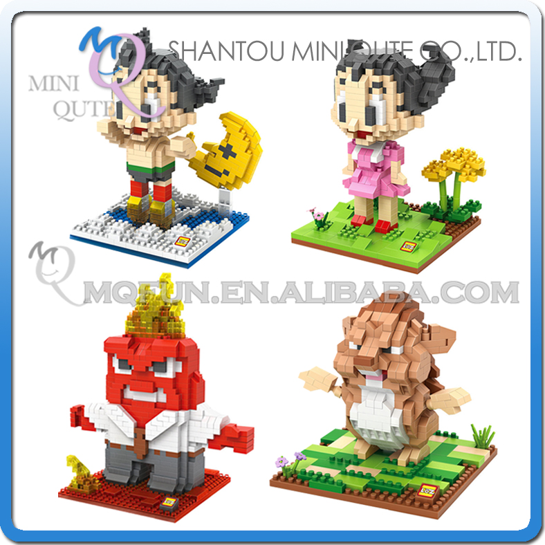 Mini Qute LOZ kawaii anime Astroboy inside out plastic building blocks bricks action figures cartoon model