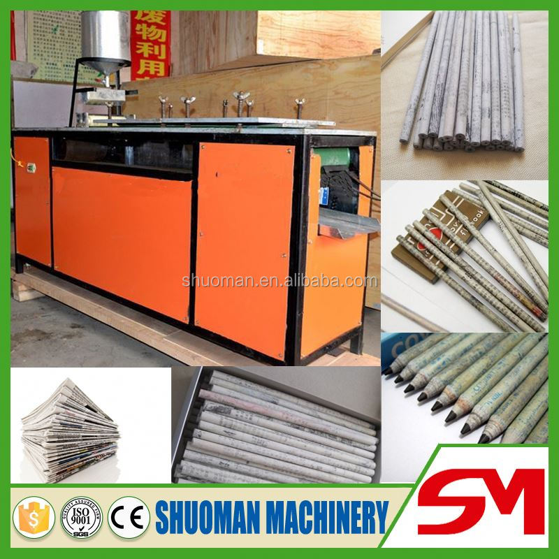 Uniquely structural design waste paper pencil making machine