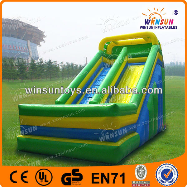 promotional factory amazonas tropical palm inflatable water slide